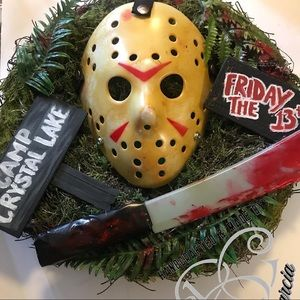 """""""FRIDAY THE 13th"""" Inspired Halloween Wreath"""
